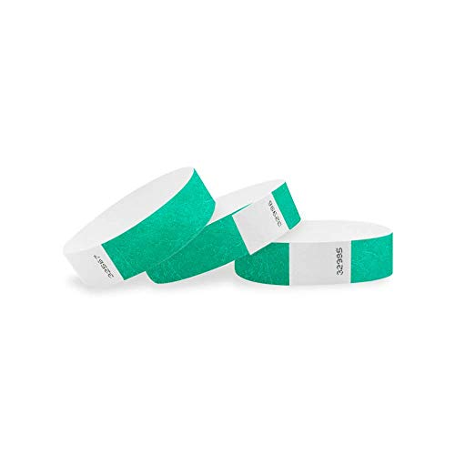 Wristco Pantone verde 3/10,2cm Tyvek Wristbands–500Pack Paper Wristbands per eventi