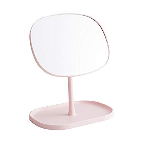 HD Make-up Spiegel Desktop Opvouwbare Vanity Spiegel Vervormt Niet Zonder Kleurplaten Badkamer Spiegel 21.7x27cm roze