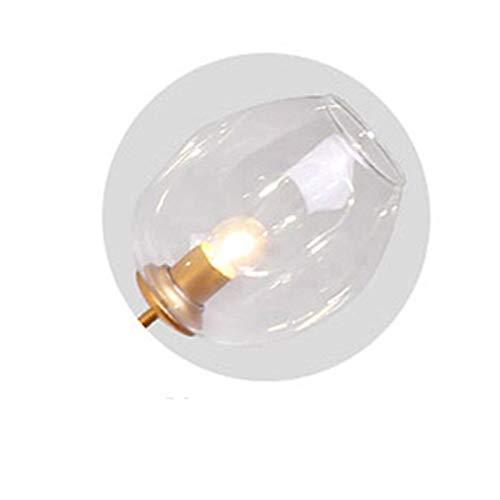 Lámpara colgante Cristal Luz pendiente moderna originalidad dormitorio lámpara colgante Simplicidad Personalidad restaurante accesorios de iluminación Candelabro ( Body Color : Clear , Size : Bulb )