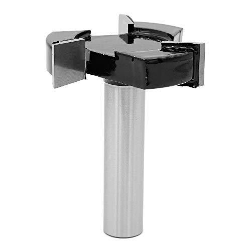 DingGreat 1/2 Zoll Schaft CNC Spoilboard Oberfläche Fräser Bit, Platten-Flachfräser Fräser Hartmetall-Hobelfräser Fräser für Holz