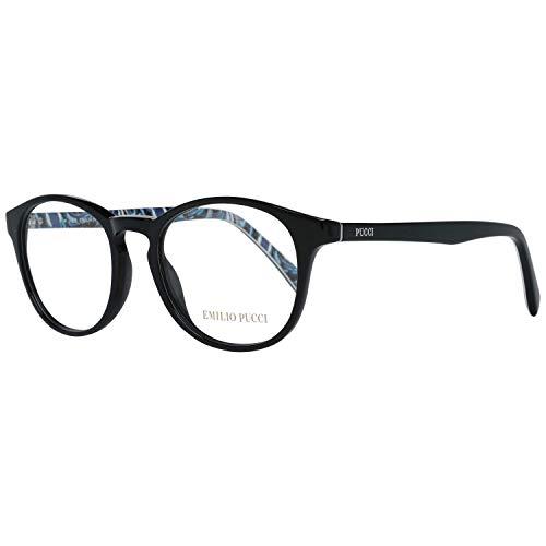 Emilio Pucci - EP5003, Rund, Acetat, Damenbrillen, BLACK(001 B ), 48/17/140