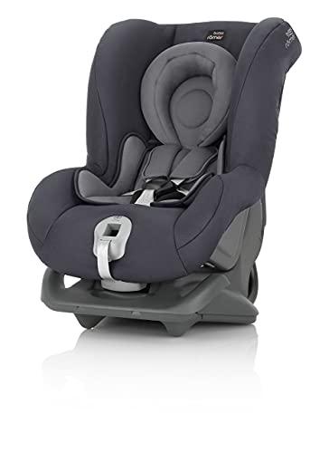 Britax Römer Reboarder Kindersitz 0 - 4 Jahre | 0 - 18 kg | FIRST CLASS PLUS Autositz Gruppe 0+/1 | Storm Grey