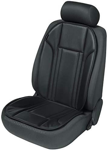 Walser 11229 Sitzaufleger aus Kunstleder | Universal Sitzauflage | Autositzaufleger in Schwarz | Autositzauflage Ravenna