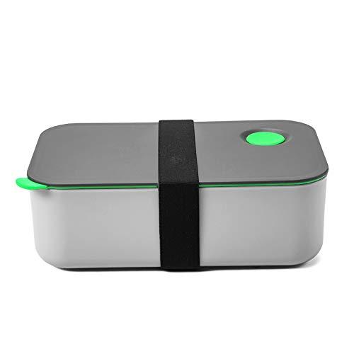 COMLIFE Bento Lunch Box 1000 ml mit 2 Fächern, umweltfreundliche BPA-freie Bento-Box Brotdose Lebensmittelbehälter mikrowellen- und spülmaschinenfest für Office, Schule, Heim und Picknick (grün)