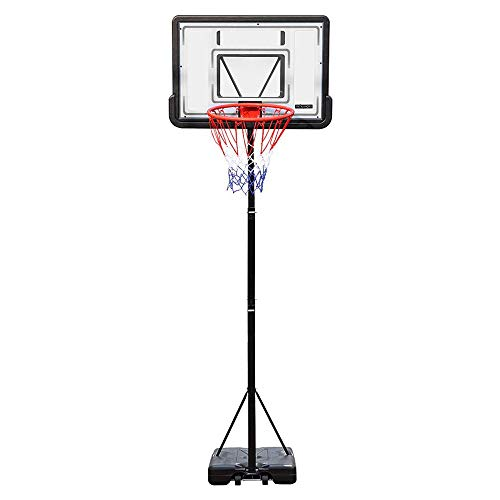 PEXMOR Portable Basketball Hoop Height Adjustable 5.9'-10' Basketball Stand Backboard System for Both Youth and Adults w/Wheels 2 Nets Shatterproof PVC Backboard Indoor & Outdoor