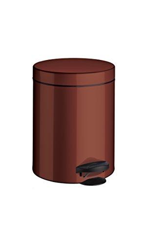 Meliconi 14004703800Abfalleimer, Stahlblech mit Eimer, Metall, Rot, 18.6x 18.6x 24.1cm