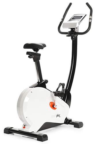 SportPlus Cyclette Ergometro con Controllo App, Google Street View, Misurazione Watt, 10 kg di Massa Volanica, 24 Livelli di Resistenza, Manubrio con Sensore delle Pulsazioni, Peso Utente Max 130 kg, Test Sicurezza