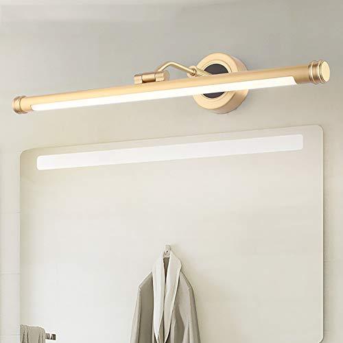 15W LED Spiegel Lichte Badkamer Spiegel IP44 Waterdichte Lamp Voor Spiegelkast 75Cm Badkamer Armatuur Ijdelheid Licht Wandlamp Badkamer Verlichting Neutraal Wit 4000K 1000Lm 220V,Gold,12w/56cm