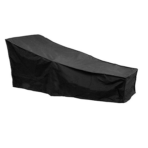 STARKWALL Black Heavy Duty Waterproof Weather Cover Outdoor Patio Garden Sun Lounger Sunbed Dust...