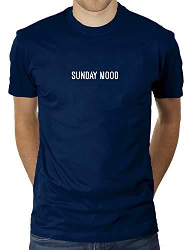 Sunday Mood – Maglietta da uomo di KaterLikoli Navy francese XXL