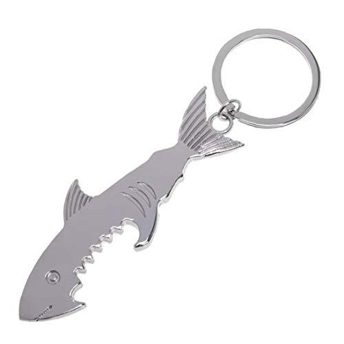 Tiburón En Forma De Botella Abridor Llavero Portátil De Dos Usos De Llaveros Único para Adultos