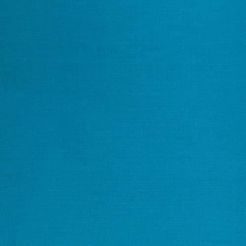 Sewcrafte Tela de polialgodón, 52% poliéster, 48% algodón, colores sólidos, 1 metro (100 cm x 240 cm), color turquesa