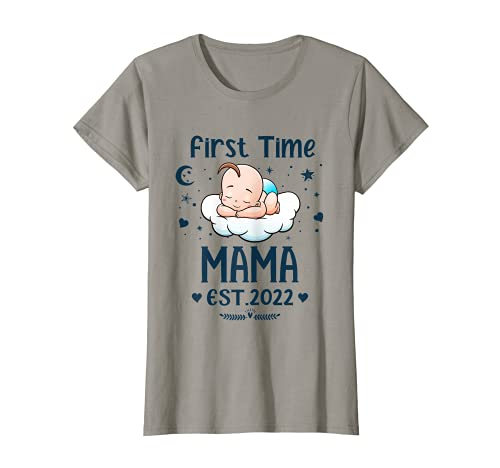 Womens Mama Gift First Time Mama EST 2022 Mother's day T-Sh