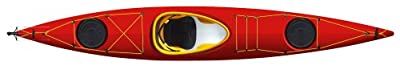 lifestylesolo-R Tahe Marine Lifestyle Solo Composite Rudder Sit-In Recreational Kayak, Red/Yellow/Red by Kayak Distribution