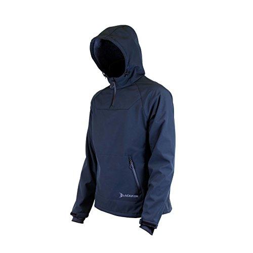Blackfish Men's Gale Softshell Pullover Jacket, Black, Large