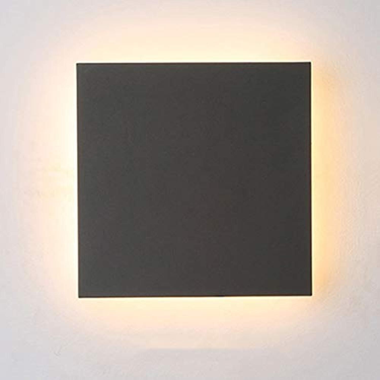 Aaedrag Moderne minimalistische Innen-LED-Leuchten Gang Korridor Licht Nacht Schlafzimmer Wandleuchte Auen Auen Wasserdicht Staubdicht Wandleuchte (Farbe   Square)