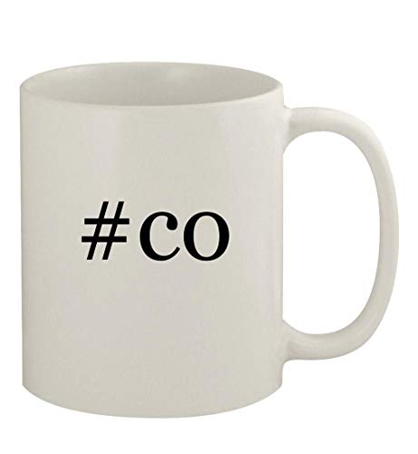 #co - 11oz Ceramic White Coffee Mug, White
