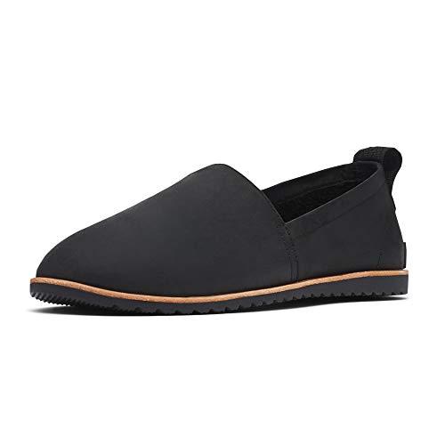 Sorel - Women's Ella Slip-On, Leather or Suede Shoe, Black, 8.5 M US