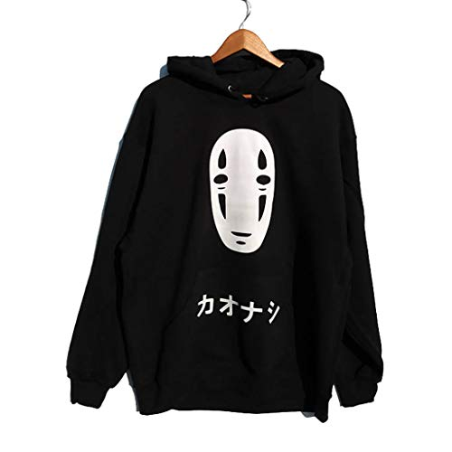 XXW Die Reise Chihiro No Face Hoodie Männer Sweatshirt Anime Harajuku Unisex Schwarz Grunge Tumblr Casual Jumper Tops