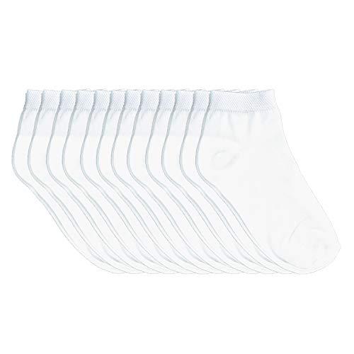 Fontana Calze 12 paia di calze bimbo in 100% Cotone Filo di Scozia elasticizzato modello Caviglia.