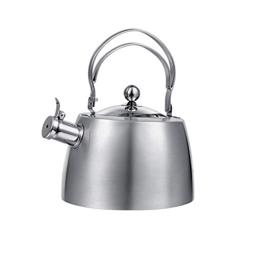 JXLBB L'eau potable en acier inoxydable 18/10 ne choisit pas le poêle bouilloire mode santé cuisinière à induction gaz général sifflet automatique