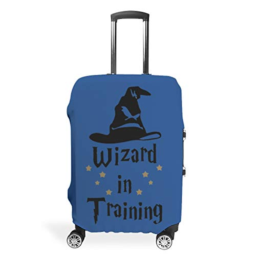 Wizard in Training Suitcase Cover Durable Anti-Scratch Fits 18-32 Inch for Wheeled Suitcase Over Softsided Magic Academy White m(22-24 inch)