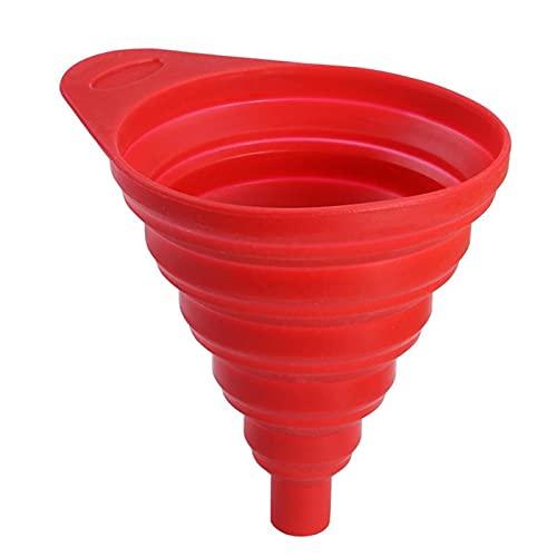 embudo Embudo de silicona Pasillo plegable plegable líquido filtro de aceite esencial filtro de cocina Colador Color aleatorio