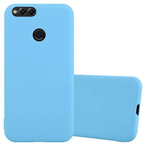 Cadorabo Funda para Honor 7X en Candy Azul - Cubierta Proteccíon de Silicona TPU Delgada e Flexible con Antichoque - Gel Case Cover Carcasa Ligera