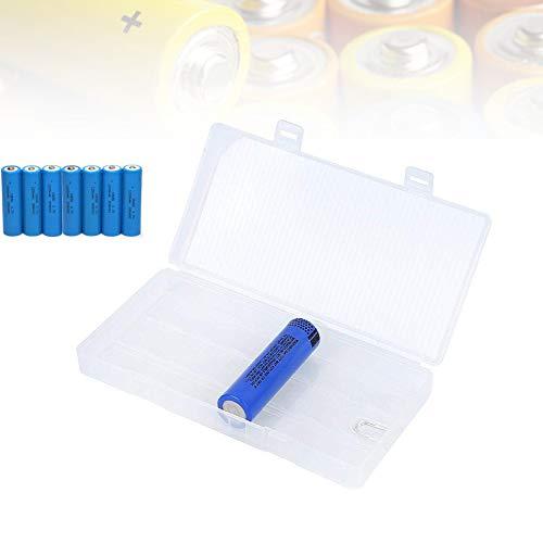 Caja de almacenamiento de batería portátil para almacenar 8 baterías 18650, Caja para proteger y Transporte pilas, Contenedor de caja de batería transparente de PP