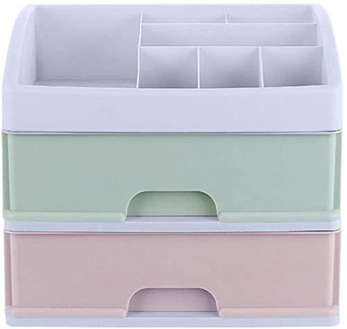 KEEBON Trucco Organizzatore Organizzatore Cosmetico Organizzatore di Pelle Prodotto Prodotto Stoccaggio Rack Dressing Box Desktop Organizer Box Scatola di gioielli Cassetto Tipo di cassetto Organizzat