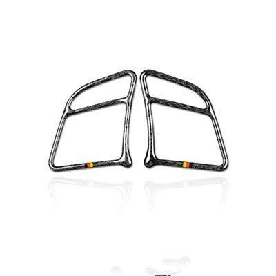 Airspeed 2 unids para Mercedes Benz Clase C W204 Accesorios 2011-2013 Cubierta de botón de volante de fibra de carbono para interior de coche con tiras