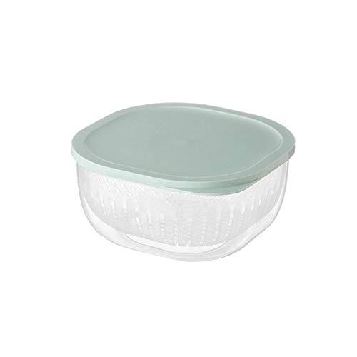 HDSFD, contenitore per la pulizia di verdure/frutta a doppio strato, cestello multiuso per frigorifero, contenitore da cucina, filtro senza BPA, contenitore rimovibile con coperchio
