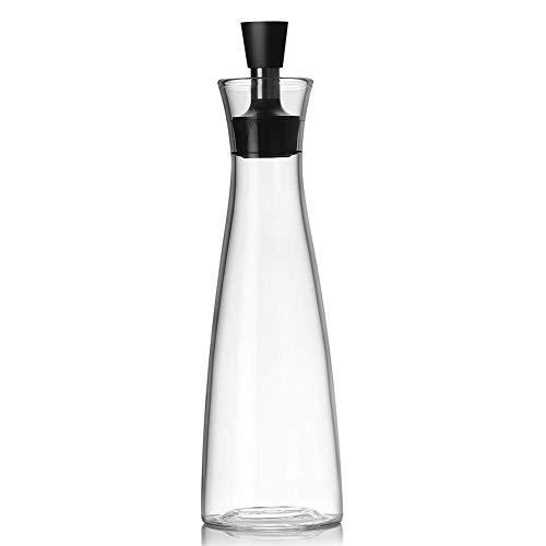 Dispensador de aceite multifunción con boquilla de acero inoxidable para aceite de oliva, vinagre, salsa de soja, botella de cristal a prueba de fugas de borosilicato para cocina o barbacoa.