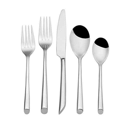 Towle Living T8613200 Wave 20-Piece Forged Stainless Steel Flatware Set, Service for 4