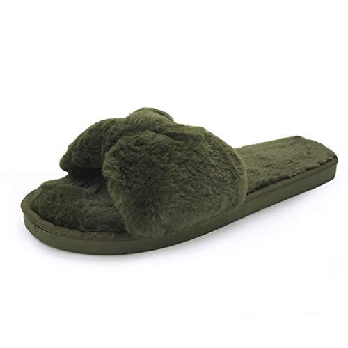Dames Gezellig Slippers, Warm Effen Boog Knoop Pluche Thuis Slippers, Binnen Huis Korte Pluche Zachte Vloer Bed Kamer Schoenen