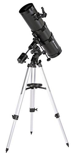 Bresser Spiegelteleskop Pollux 150/1400mm katadioptisches Spiegel-System mit hoher Brennweite und äquatorialer EQ-3 Montierung Stativ und Zubehör
