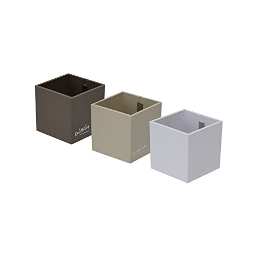 KalaMitica Set da 3 Cubi, Vaso Magnetico, Diametro 6 cm, Toni Neutri