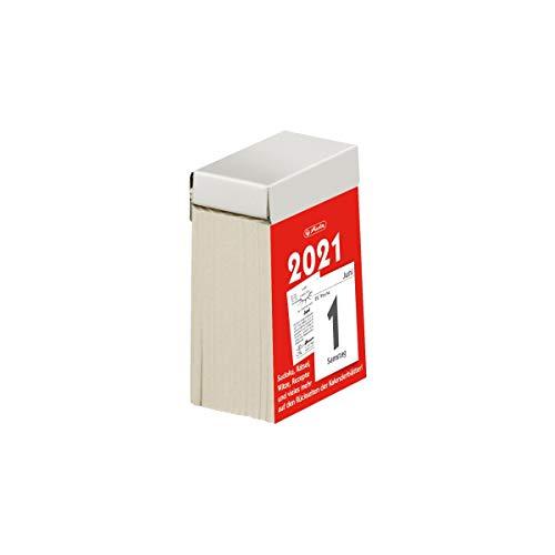herlitz 50030675 Abreißkalender 2021, Größe 1 (4 x 6 cm), 1 Stück