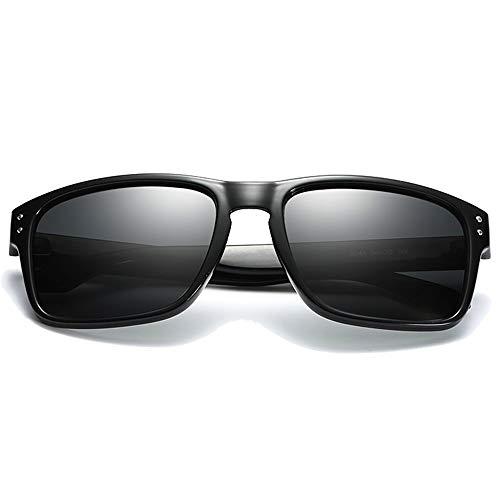 KK Zachary Gafas de sol de moda polarizadas con material de policarbonato nuevo negro/marrón, hombres y mujeres con las mismas gafas de sol de conducción (color negro)