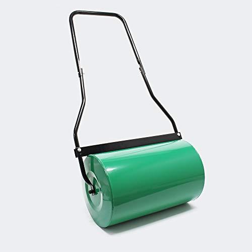 WilTec Rodillo de césped para jardín 50cm Tambor para llenar 40l Agua con Limpiador de Suciedad