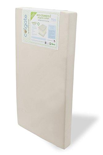 "Eco Classica I Foam Crib Mattress by Colgate Mattress | 51.6"" L x 27.2 W"" x 5"" Thick | Hypoallergenic | Award-Winning | Organic Cotton Cover | Eco-Friendly (EC515-OCF-P)"