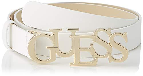 Guess Peggy Logo Belt Cintura, Bianco, L Donna