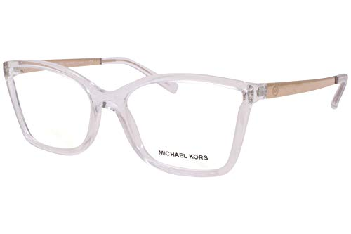 Michael Kors CARACAS MK4058 Eyeglass Frames 3050-54 - Crystal Clear Injected MK4058-3050-54