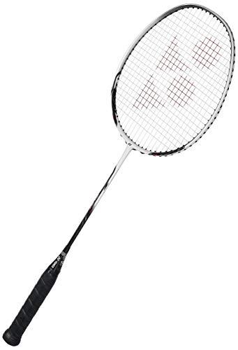 Yonex Nanoray 60 FX Graphite Strung Badminton Racquet (White/Black) with Full Cover