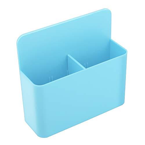 MoKo Magnetic Dry Erase Marker Holder, Magnetic Pen Pencil Holder Storage Organizer for Whiteboard, Refrigerator, Locker and Other Magnetic Surfaces - Blue