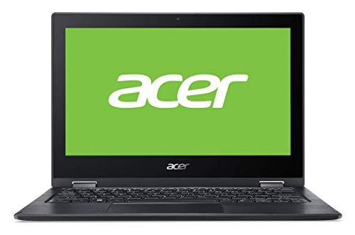 Acer Spin 1 SP111-33 - Ordenador Portátil Táctil de 11.6' HD, Procesador Intel Celeron N4020, RAM de 4GB, eMMc de 64GB, Intel UHD Graphics, Windows 10 Home, Negro - Teclado Qwerty Español