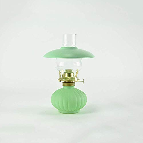 SHKUU Lámpara Aceite Vidrio Candelabro Vidrio Iluminación Decorativa Fallo energía Luz Emergencia Linterna Antigua Lámpara xenón