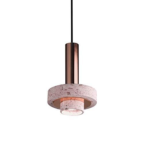 JIAXIAOYAN Luz de Noche lámpara, Nordic Post-Moderna diseñador Creativo Sala/Esquina/Restaurante/Bar de la Personalidad de una Sola Cabeza de la lámpara, Material de Piedra LED Luc