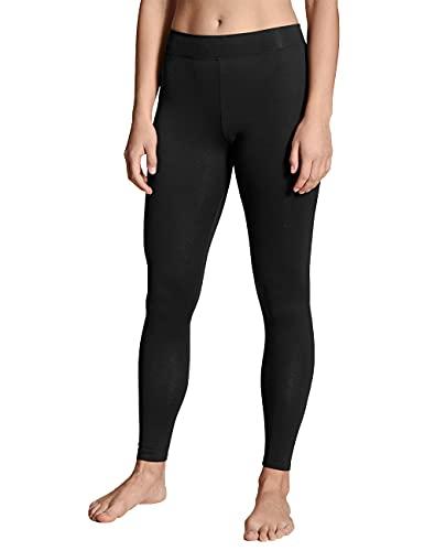 CALIDA Damen Elastic Leggings, Schwarz, 36-38