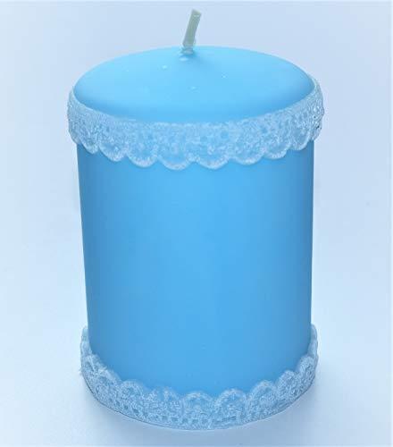 Baby 3 Kerzen Blau Taufe Dekoration